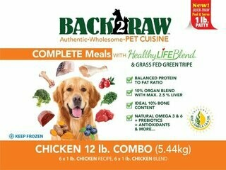BACK 2 RAW - Complete Chicken Recipe & Chicken Blend Combo - 12 LB
