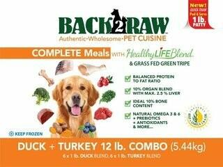 BACK 2 RAW - Complete Duck & Turkey Recipe - 12 LB