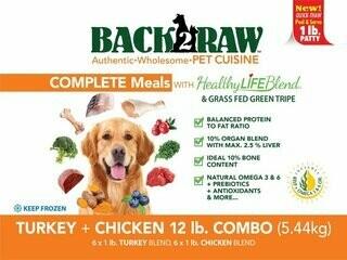 BACK 2 RAW - Complete Turkey & Chicken Recipe - 12 Lb