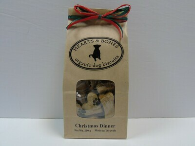 HEARTS AND BONES - Christmas Dinner Organic Dog Biscuits