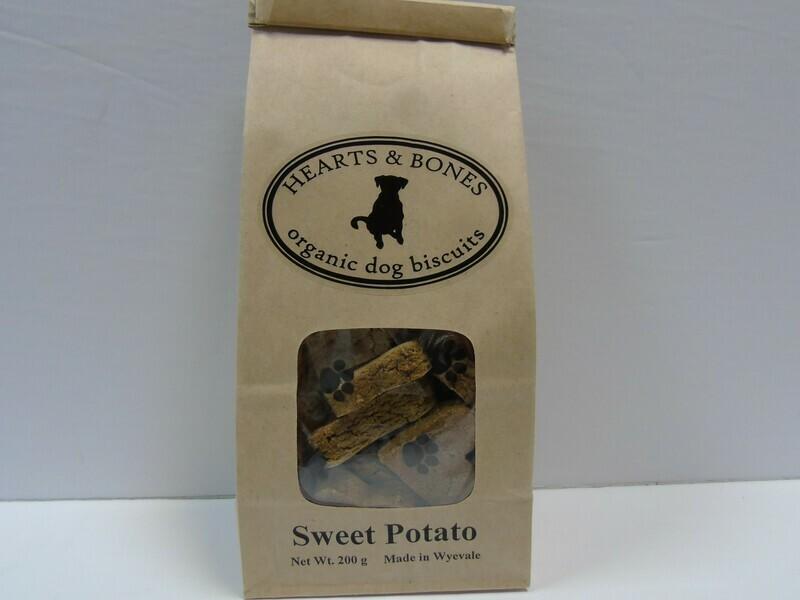 HEARTS AND BONES - Organic Sweet Potato Biscuits