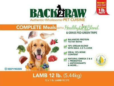 BACK 2 RAW - Complete Lamb - 12LB