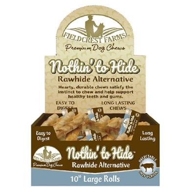 """FIELDCREST FARMS- Nothin' To Hide 10"""" Premium Dog Chew - Chicken"""