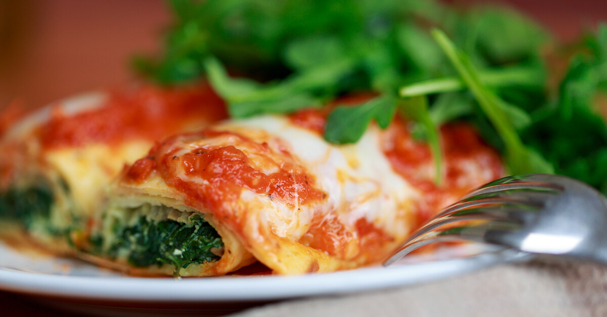 Cannelloni with Spinach and Ricotta Filling
