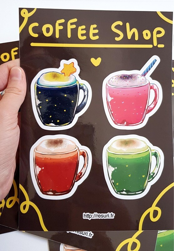 Coffee shop [Planche de Stickers / Stickers sheet]