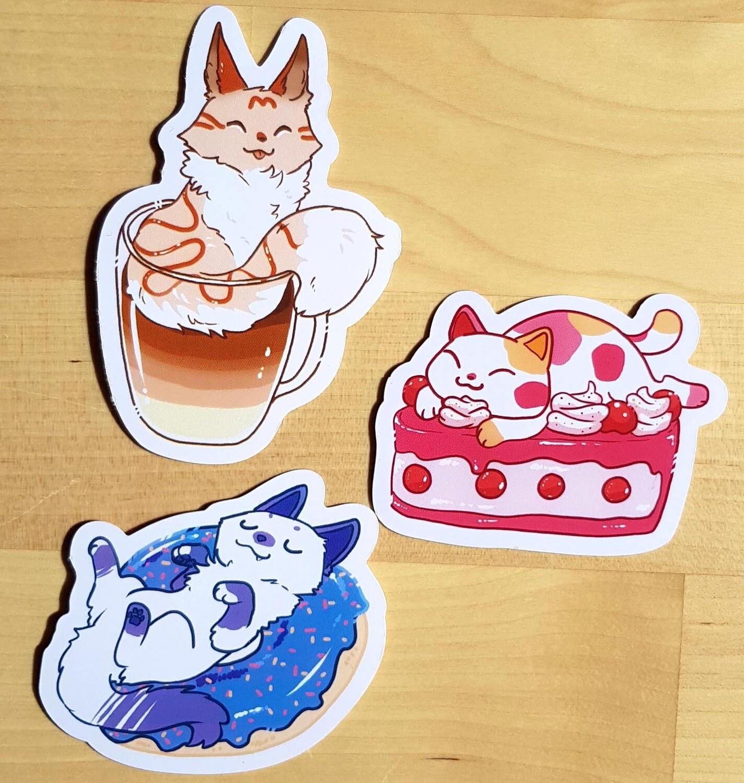 Cat café [Lot de Stickers / Sticker pack]