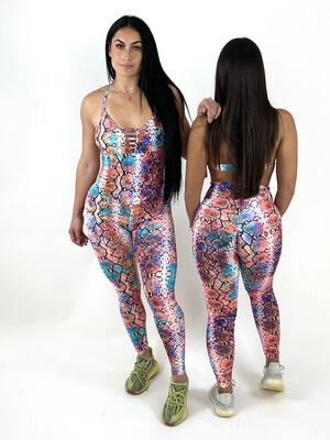 Color Boa Jumpsuit