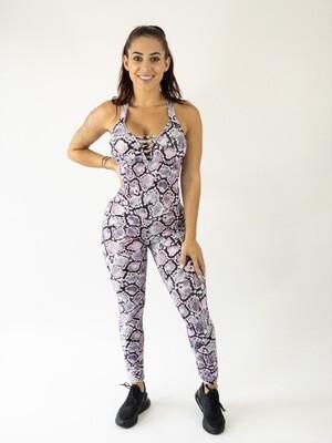 Lilac Snake Jumpsuit