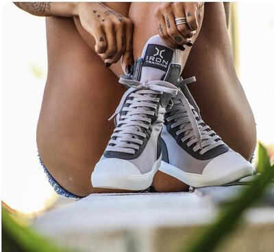 Gray Iron Training Boots