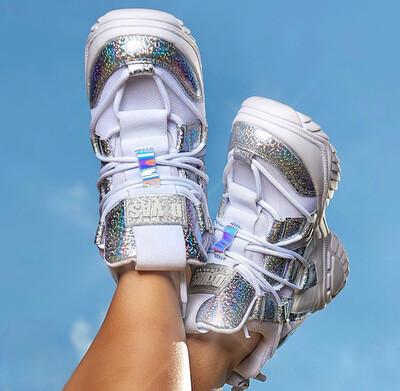 Glitter High Sneakers