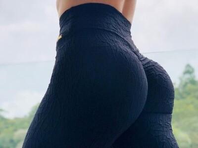 3D Black Biker Shorts