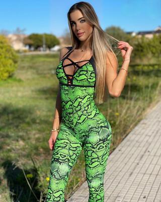 Green Python Jumpsuit