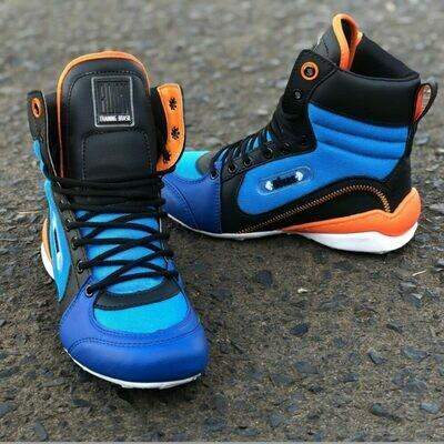 Blue/Orange Training Boots