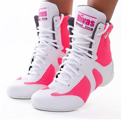 White / Neón Pink Diva Boot
