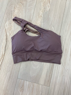Purple One Shoulder Top