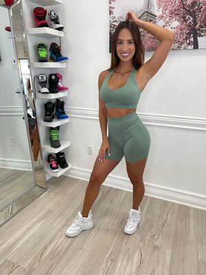 Sage Diva Shorts Set