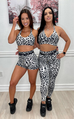 Gray Leopard Leggings Collection