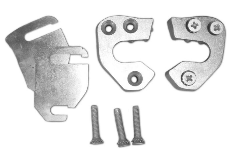 Door Latch Jamb Receiver Kit: FITS Bodies: 64-66 A, 64-70 B, 65-68 C + Imperial, 67-71 Truck