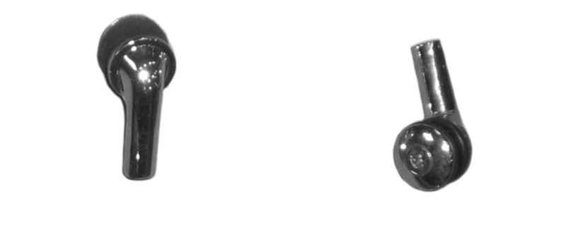 68-70 B-Body Vent Window Chrome Glass Pivots