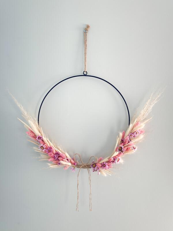 Pink Lady Flower Hoop