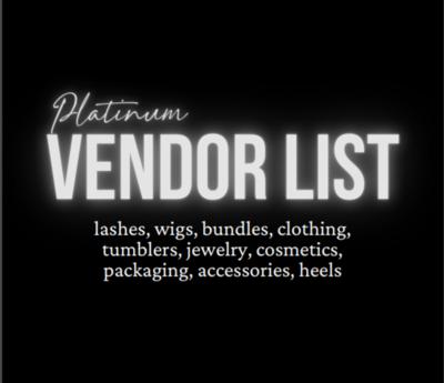 Platinum Vendor List