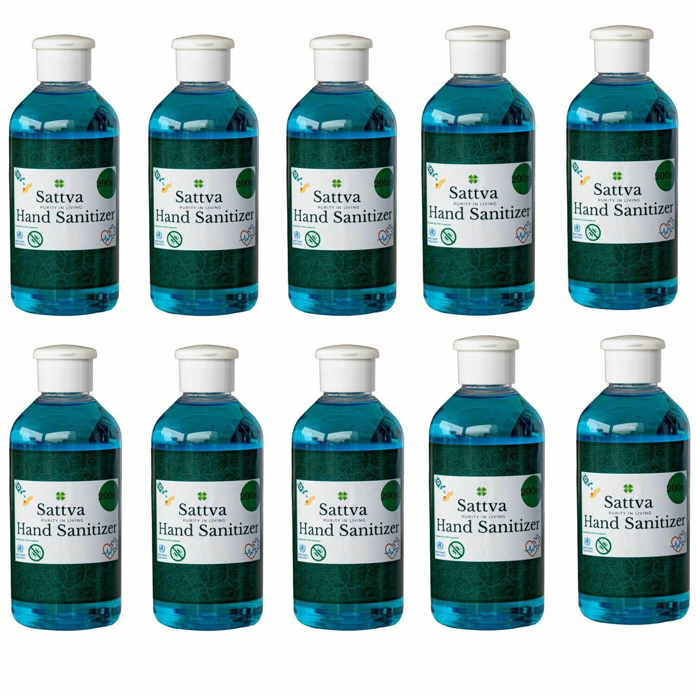 Sattva Hand Sanitizer Liquid 200ml(Pack of 10)