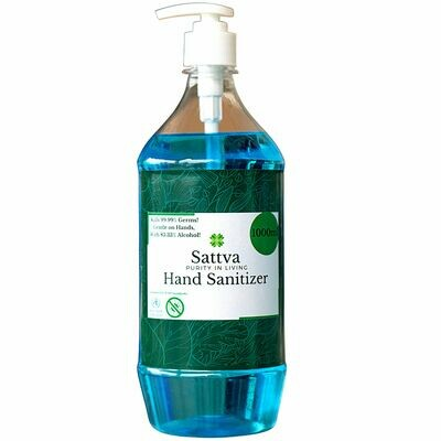 Sattva Hand Sanitizer Liquid Push Pump 1000ml