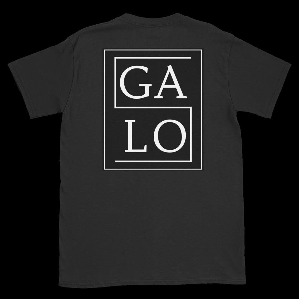 GALOS Back Print Unisex T-Shirt - Black