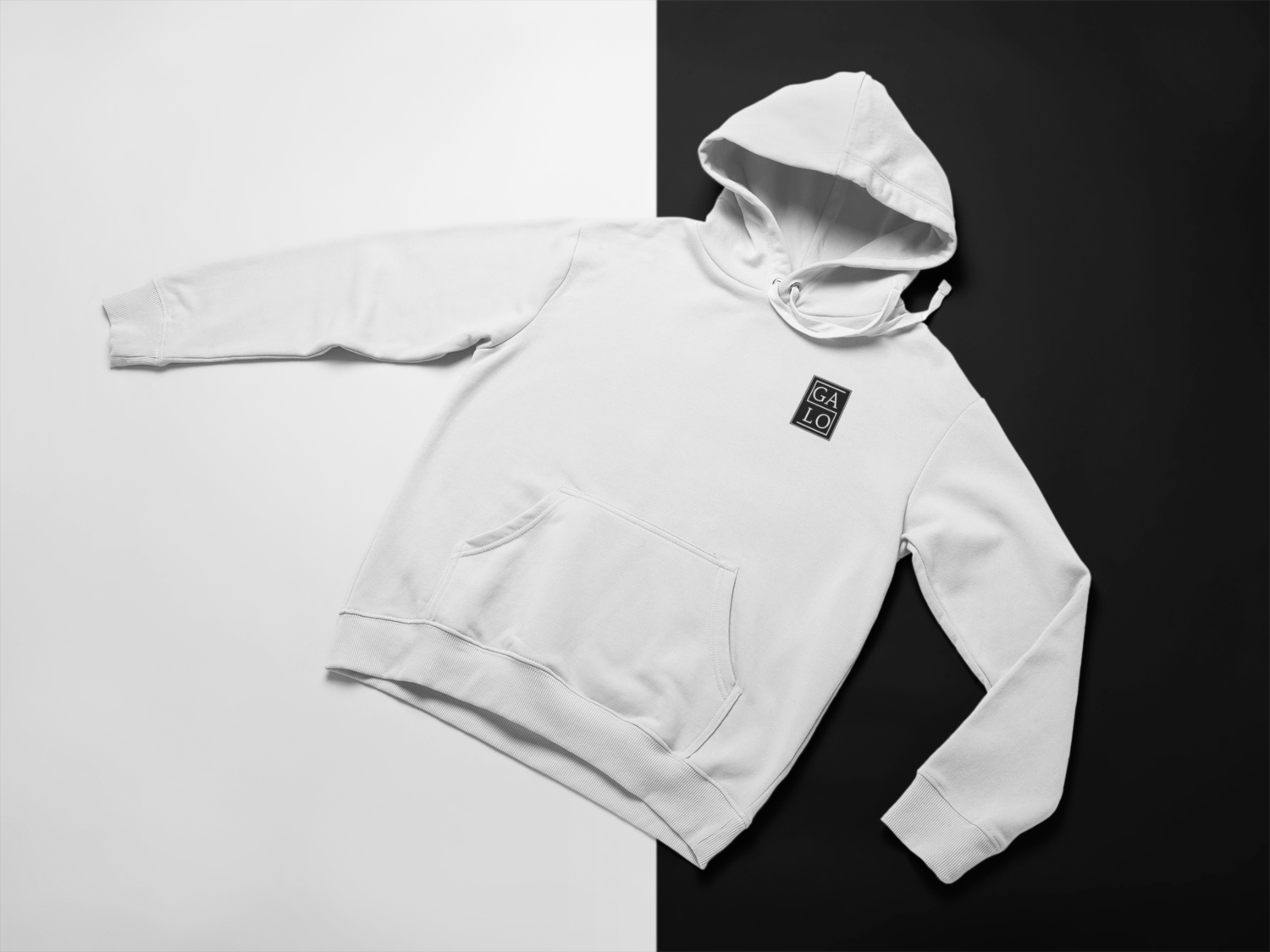 Embroidered GALOS Unisex Hoodie - White