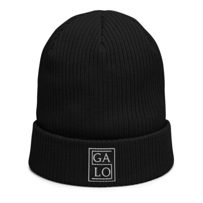 GALOS Embroidered Beanie - Black