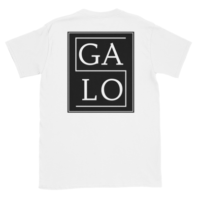GALOS Back Print Unisex T-Shirt - White