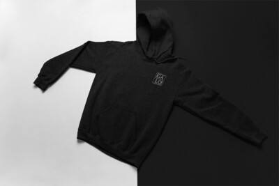 Embroidered GALOS Unisex Hoodie - Black