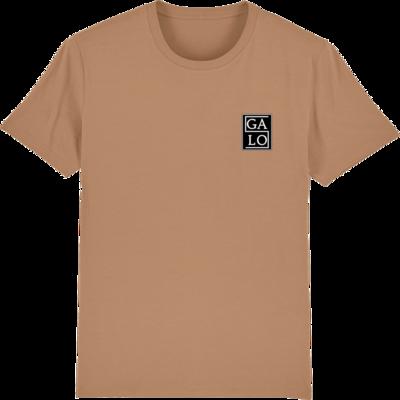 GALOS Chest Print T-Shirt - Beige