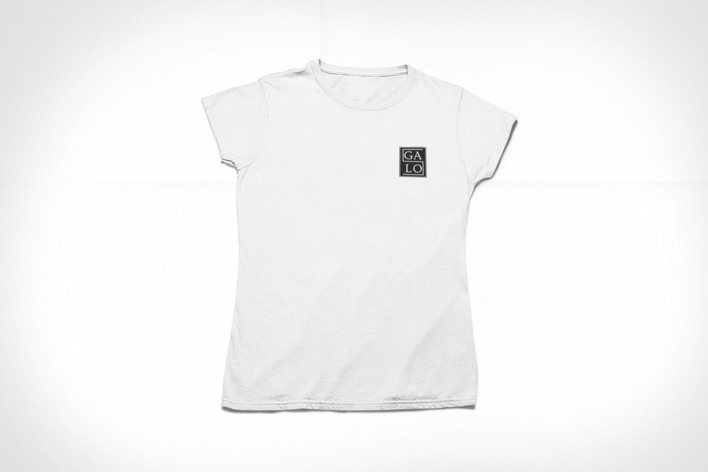 GALOS Chest Print Women's T-Shirt - White