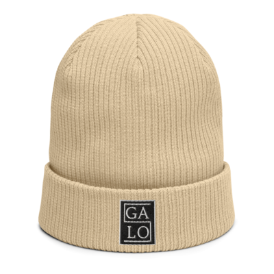 GALOS Embroidered Beanie - Beige
