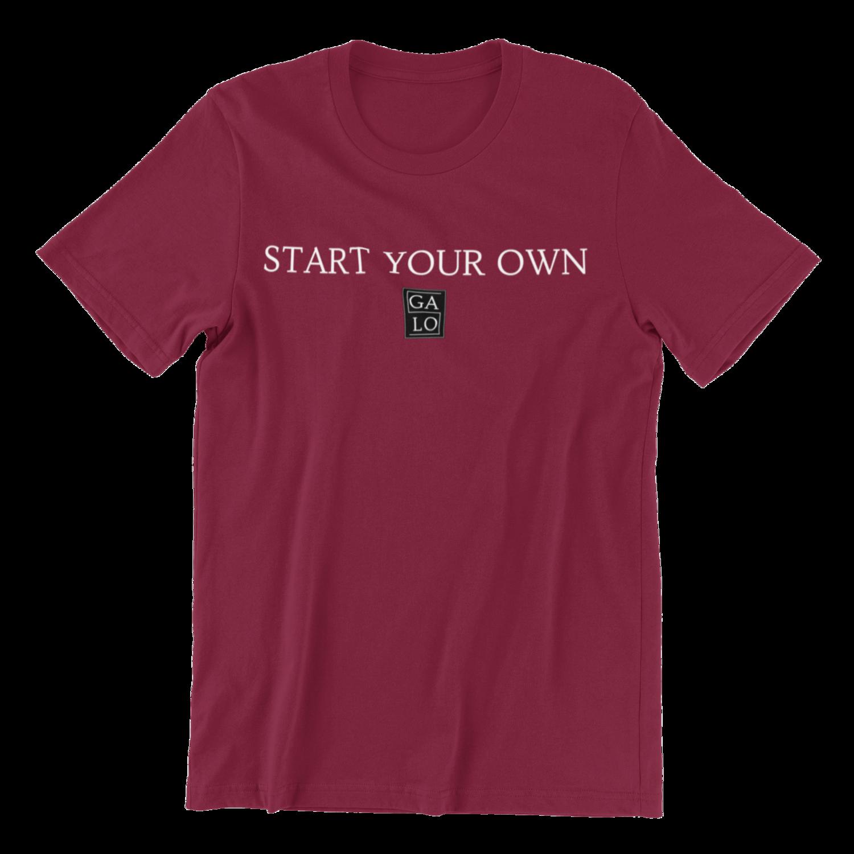 START YOUR OWN GALOS LOGO T-Shirt - Burgundy