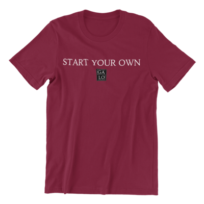 START YOUR OWN GALOS LOGO T-Shirt - Burgundy