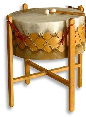 Powwow drum - koeienvel - Ø 65cm - H 31cm