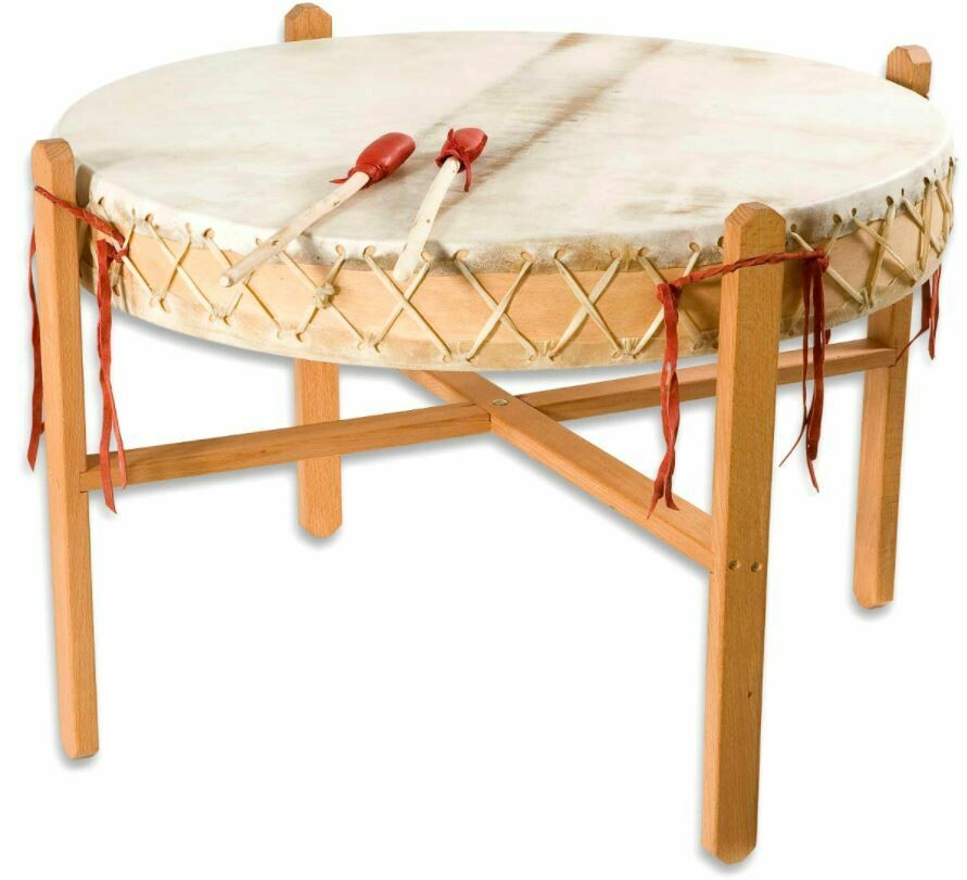 Powwow drum - koeienvel - Ø 90cm - H 16cm