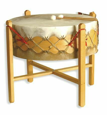 Powwow drum - koeienvel - Ø 90cm - H 31cm