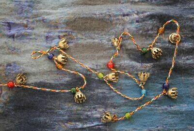 Belkoordje clawbell middel met kralen - 17mm