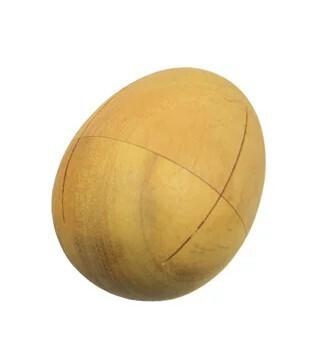 Egg-Shaped Shaker - wood - large
