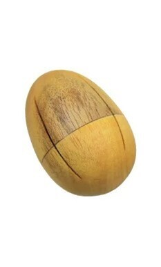 Egg-Shaped Shaker - wood - small