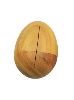 Egg-Shaped Shaker - wood - medium