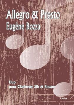 Allegro & Presto - E. Bozza - Bb clarinet & bassoon - rév. M. Nowak