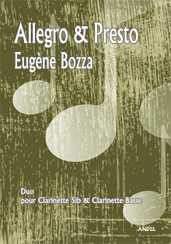 Allegro & Presto - E. Bozza - Bb clarinet & Bass clarinet - Rév.M. Nowak