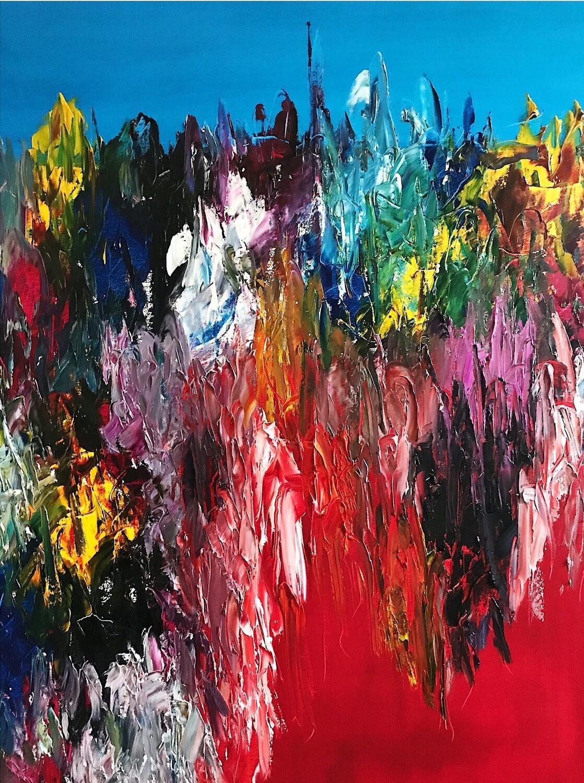 Power ReMarks 01 - Oil on Canvas (Framed)