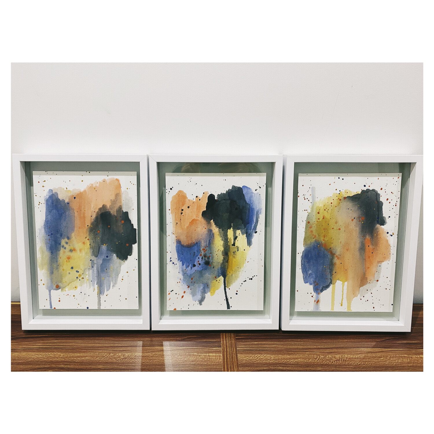 Earth Mixtures - Watercolor On Paper (Framed)