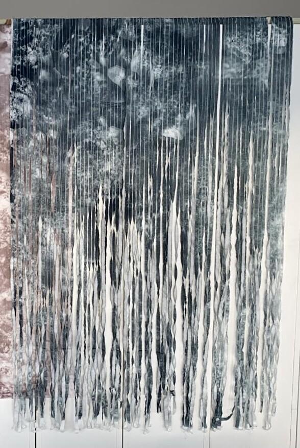 King 1 - Shredded Handmade Screenprint on Fabric