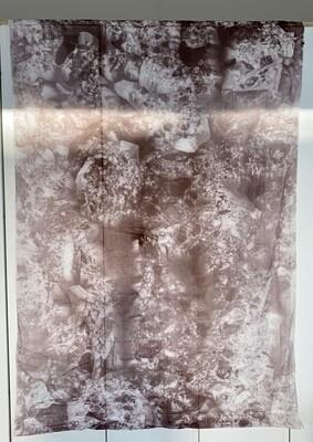 King 2 -  Handmade Screenprint on Fabric